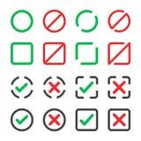Ensemble d'icône de Checkbox illustration libre de droits