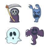 Ensemble d'icône de costume de Halloween, style de bande dessinée illustration de vecteur
