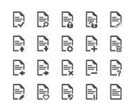 Ensemble d'icône de document, symbole de vecteur photos stock