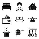 Ensemble d'icône de femme au foyer, style simple Photographie stock