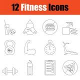 Ensemble d'icône de forme physique illustration stock