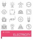 Ensemble d'icône de l'électricité de vecteur Photographie stock libre de droits