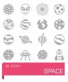 Ensemble d'icône de l'espace de vecteur Image stock