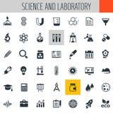 Ensemble d'icône de la Science et de laboratoire Images stock