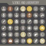 Ensemble d'icône de la Science et de laboratoire, icônes plates à la mode photos libres de droits