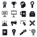Ensemble d'icône de marketing de marque, style simple illustration stock