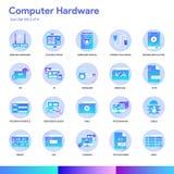 Ensemble d'icône de matériel informatique Style moderne de gradient Vecteur ENV 10 illustration libre de droits