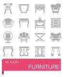 Ensemble d'icône de meubles de vecteur Photo stock