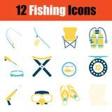 Ensemble d'icône de pêche illustration stock