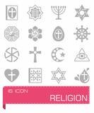 Ensemble d'icône de religion de vecteur Photos stock