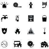 Ensemble d'icône de sapeur-pompier illustration de vecteur
