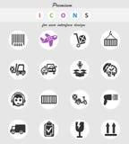 Ensemble d'icône de service de distribution Illustration Libre de Droits