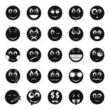 Ensemble d'icône de sourire, style simple illustration libre de droits