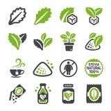 Ensemble d'icône de Stevia illustration stock