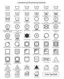 Ensemble d'icône de symboles de blanchisserie illustration libre de droits