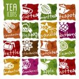 Ensemble d'icône de thé de vecteur Images stock