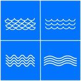 Ensemble d'icône de vagues Photo stock