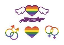 Ensemble d'ic?ne de vecteur de LGBT illustration libre de droits