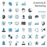 Ensemble d'icône de vente de créativité illustration de vecteur