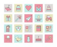 Ensemble d'icône de Web de bébé illustration stock