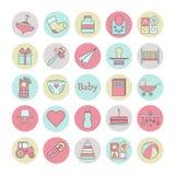 Ensemble d'icône de Web de cercle de bébé illustration stock