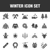 Ensemble d'icône d'hiver illustration de vecteur