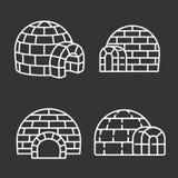 Ensemble d'icône d'igloo, style d'ensemble illustration de vecteur