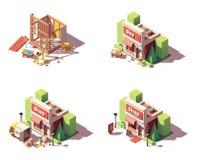 Ensemble d'icône d'ouverture de boutique de vecteur illustration de vecteur