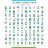 Ensemble d'icônes d'éducation grand illustration libre de droits