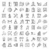 Ensemble d'icônes d'équipement d'architecte, style d'ensemble illustration de vecteur