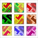 Ensemble d'icônes carrées avec différentes nuances sur un blanc illustration stock