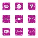 Ensemble d'icônes de dressage, style grunge illustration libre de droits