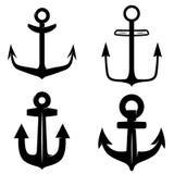 Ensemble d'icônes de l'ancre d'isolement sur le fond blanc Concevez l'élément pour le logo, label, emblème, signe illustration libre de droits
