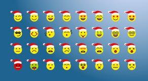 Ensemble d'icônes de Noël illustration stock
