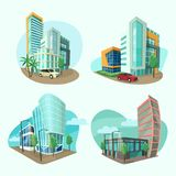 Ensemble d'icônes de paysage urbain illustration de vecteur