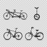 Ensemble d'icônes de vélos Illustration de vecteur illustration de vecteur