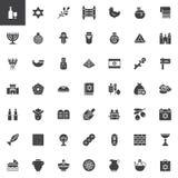 Ensemble d'icônes de vecteur de judaïsme illustration de vecteur