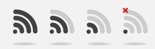 Ensemble d'icônes de Wi-Fi de vecteur avec le signal différent reçu couches illustration stock