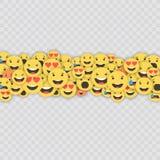 Ensemble d'icônes d'emoji Visages drôles avec différentes émotions Icônes plates de style d'Emoji Réactions sociales de media Vec illustration stock