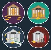 Ensemble d'icônes plates Illustration Libre de Droits