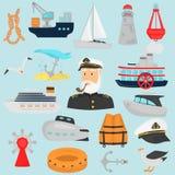 Ensemble d'icônes plates de couleur d'expédition pour le Web et la conception mobile Image stock