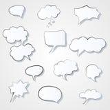 Ensemble d'icône comique de bulles de la parole 3d Image ENV de vecteur de bulle de pensée Photos libres de droits