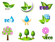 Ensemble d'icône d'écologie. Eco-icônes. Image stock