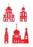 Ensemble d'icône d'églises orthodoxes Images stock