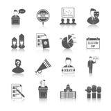 Ensemble d'icône d'élection illustration libre de droits
