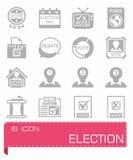 Ensemble d'icône d'élection de vecteur image stock