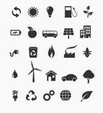 Ensemble d'icône d'énergie renouvelable illustration de vecteur