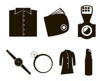 Ensemble d'icône d'accessoires de vecteur Images libres de droits