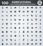 Ensemble d'icône d'agriculture Photos stock