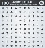 Ensemble d'icône d'agriculture Image libre de droits